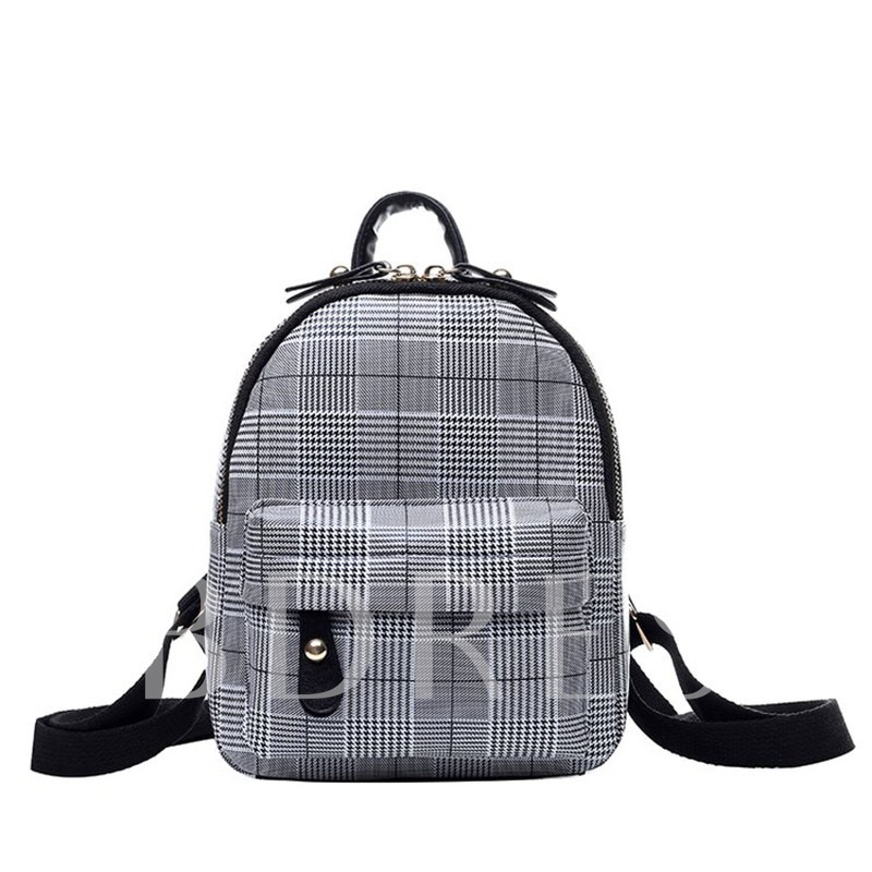 Houndstooth PU Thread Backpacks