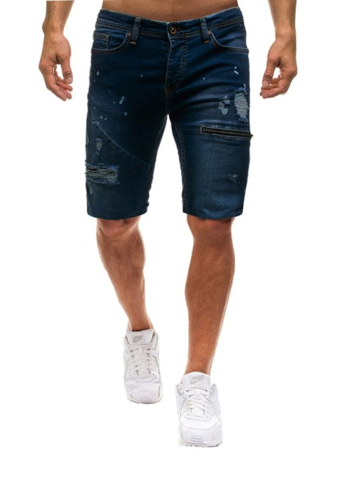 New Fashion Casual Slim Fit High Quality Elastic Denim Men's Stretch Short Jeans