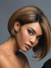 Women's Medium Bob Hairstyles Straight Synthetic Hair Wigs Capless Wigs 10Inches