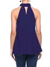 Summer Pleated Halter Standard Women's Tank Top