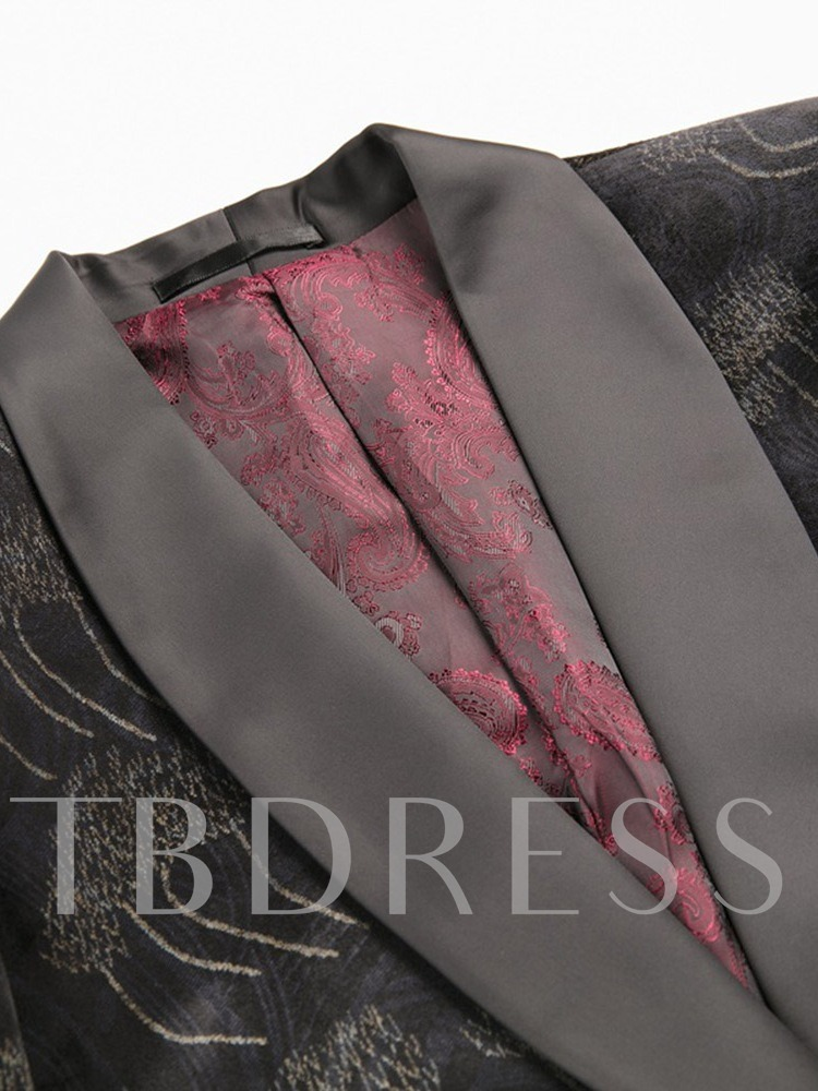 Fashion One Button Color Block Blazer Men's Dress Suit