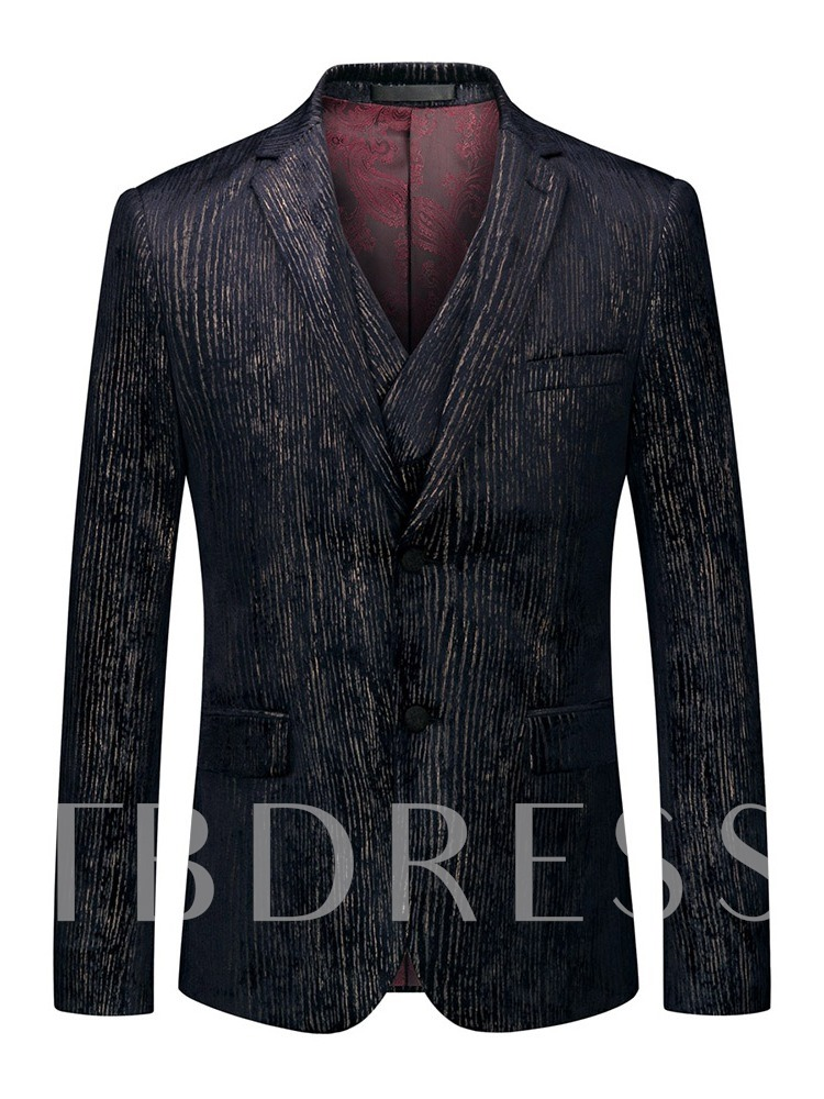 Fashion Luxury Formal Wedding Blazer Color Block Single-Breasted Men's Dress Suit