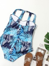 Plus Size Sexy One Piece Print Color Block Women's Swimwear