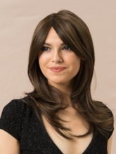 Short Natural Straight Women's 130% Density Capless Synthetic Hair Wigs 14Inches