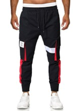 Color Block Pocket Thin Overall Summer Men's Casual Pants