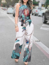 Full Length Strap Casual Straight Women's Jumpsuit