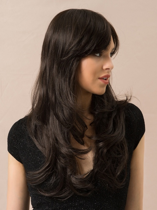130% High Density Women's Heat Resistant Long Wavy Synthetic Hair Capless Wigs 24Inches