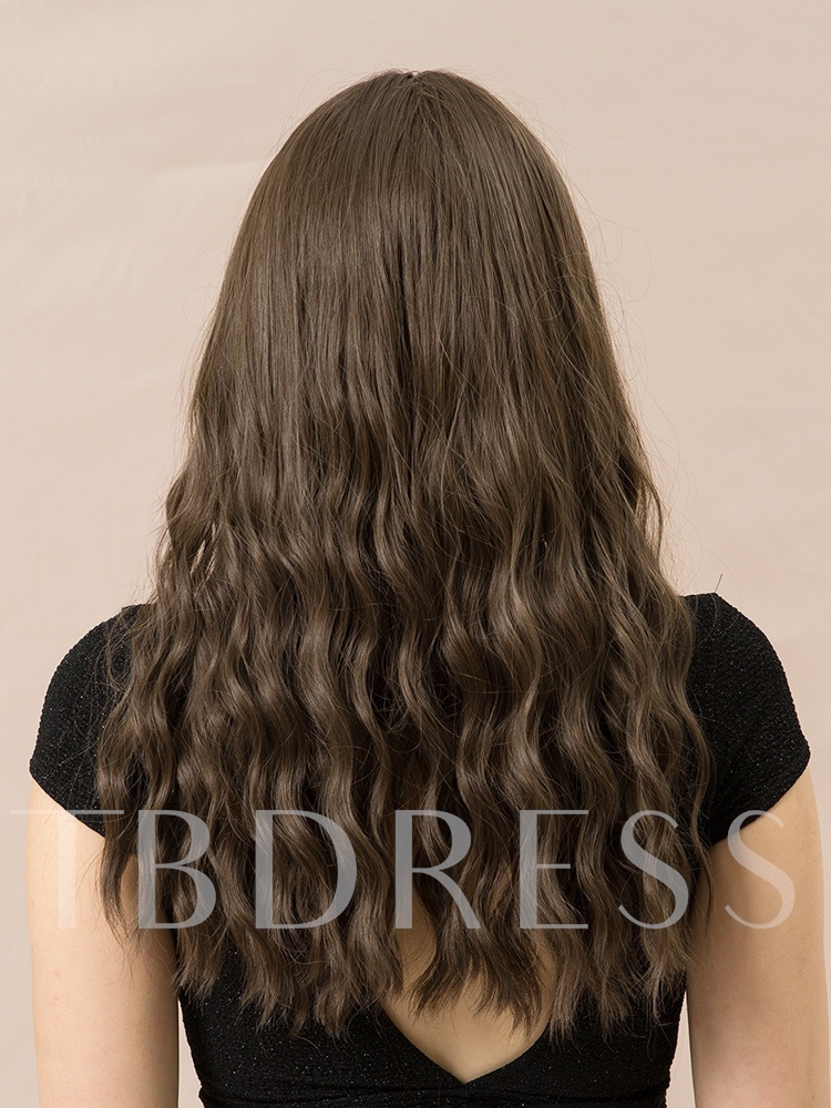 130% Density Women's Rose Net Capless Wigs Water Wave Synthetic Hair Wigs 26Inches