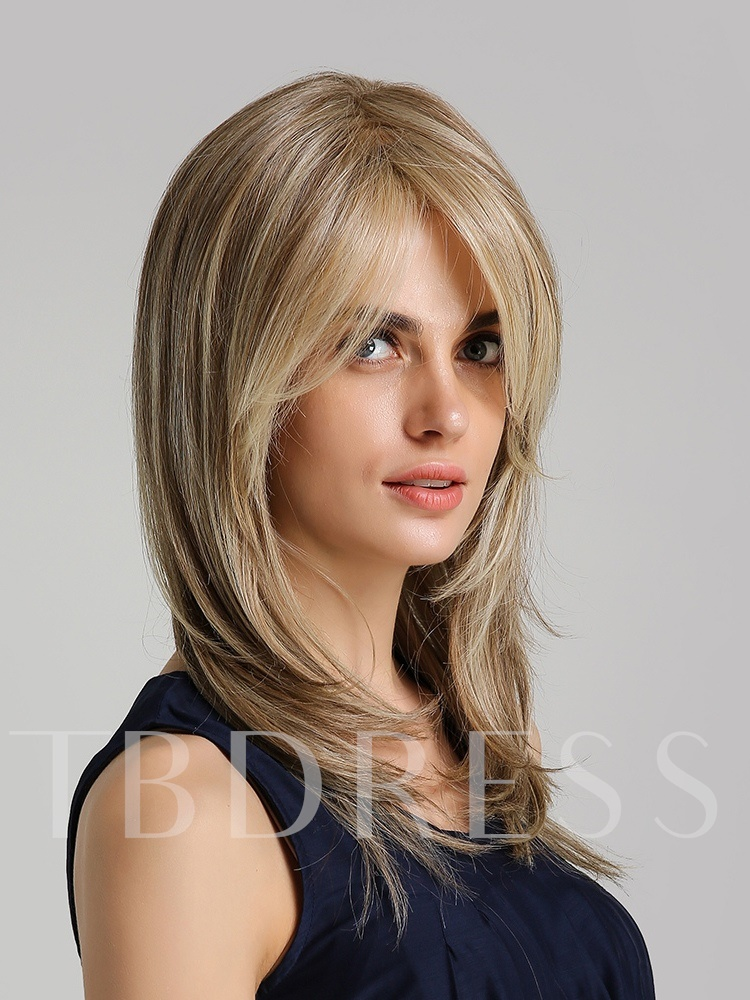 130% High Density Heat Resistant Women's Synthetic Hair Straight Capless Full Wigs 20Inches
