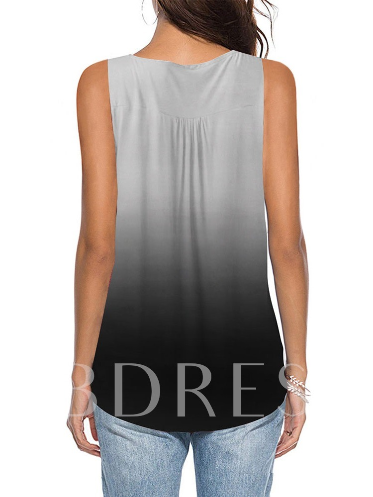 Suspenders Summer Pleated Mid-Length Women's Tank Top