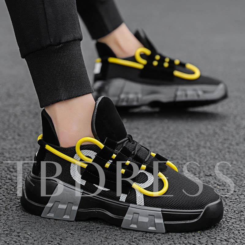 Sports Lace-Up Round Toe Chic Men's Sneakers