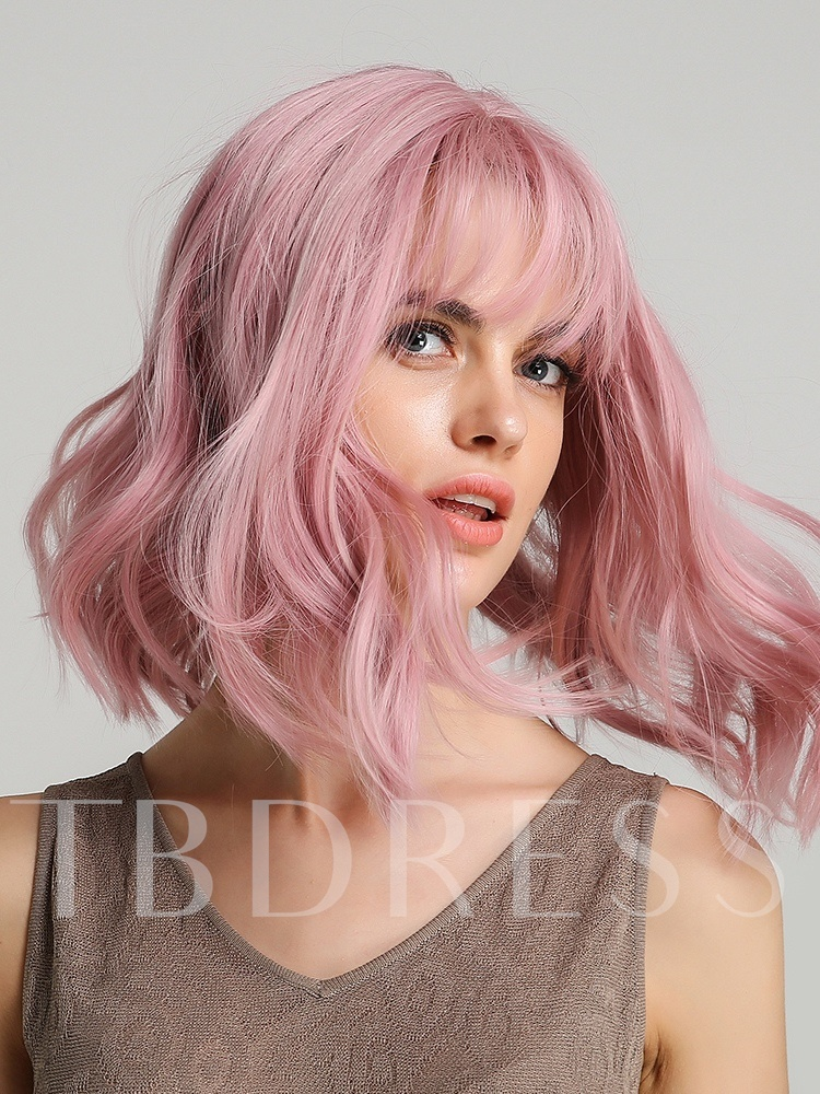 130% Density Short Curly Halloween Women Girls Charming Synthetic Costume Cosplay Wig with Bangs Capless Wigs 12 Inches