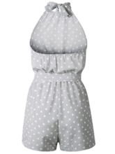 Shorts Casual Backless Polka Dots Wide Legs Women's Romper