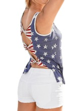 Polyester Summer Pocket Standard Women's Tank Top