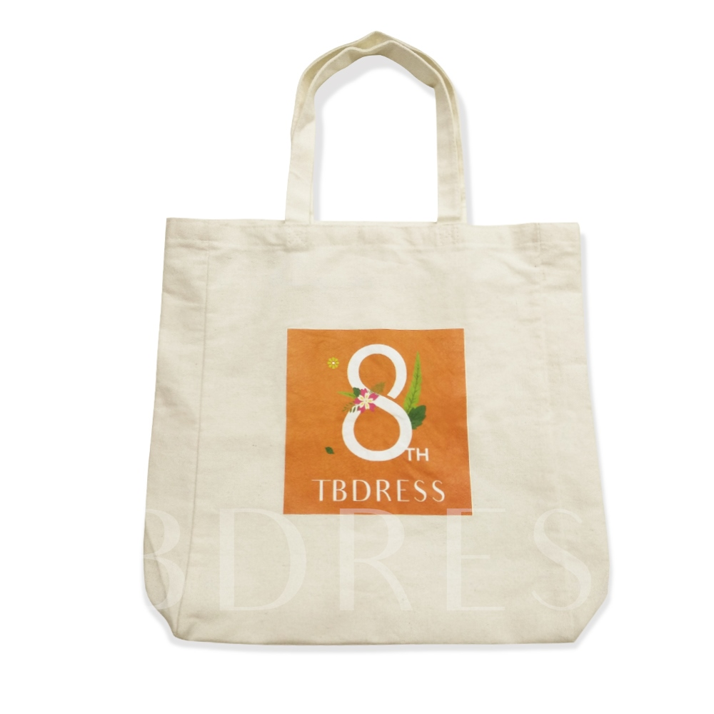Tbdress Beige Cotton Blends Tote Bags
