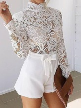 Western Floral Shorts Patchwork Straight Women's Romper