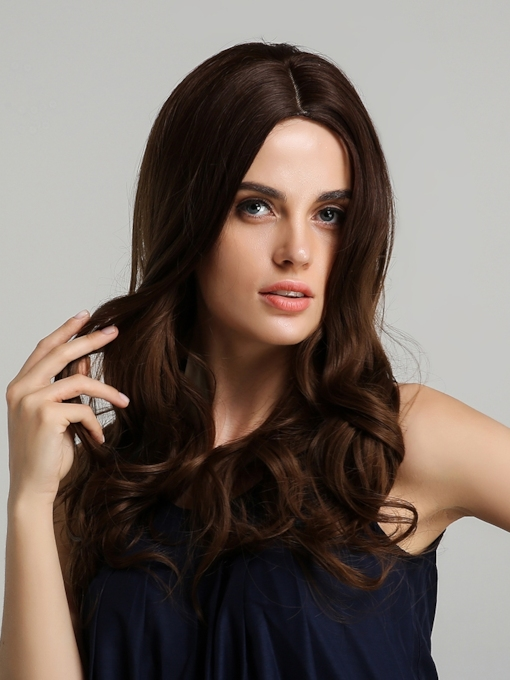 Breathable And Durable 130% Density Women's Wavy Synthetic Hair Capless Wigs 22Inches