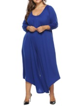 Plus Size Ankle Length Plain Western Backless Wide Legs Women's Jumpsuit