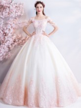 Beading Off-The-Shoulder Ball Gown Half Sleeves Quinceanera Dress 2019