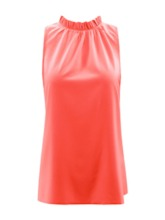 Pleated Summer Polyester Mid-Length Women's Tank Top