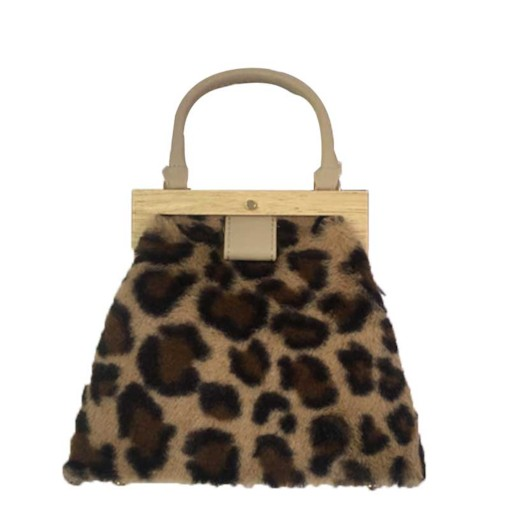 Leopard Pattern Thread PU Tote Bag
