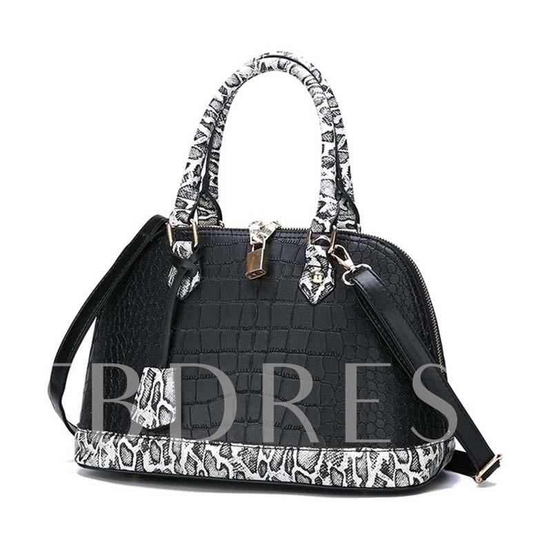 PU Alligator Embossing Shell Tote Bags