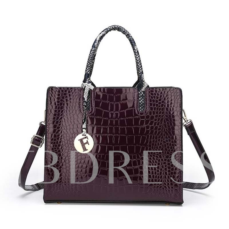 PU Embossing Serpentine Square Tote Bags