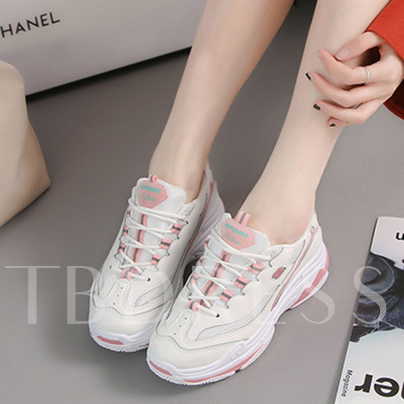 Lace-Up Round Toe Platform Chic Women's Sneakers