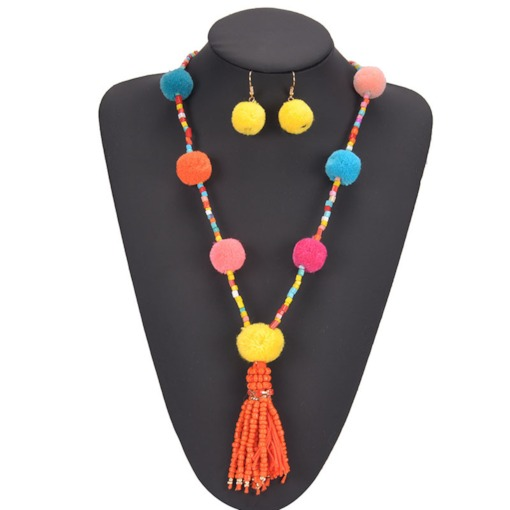 Necklace Tassel Bohemian Birthday Jewelry Sets