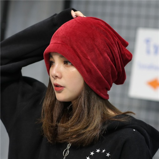 Velour Skullies & Beanies Korean Fall Hats