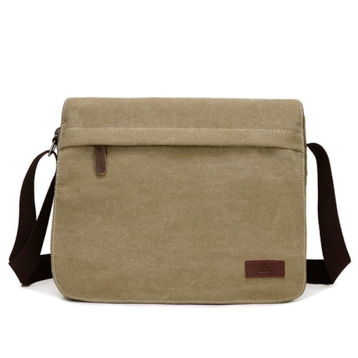 Environmental Protection Canva Men's Shoulder Bag