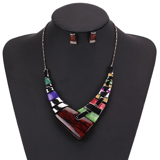European E-Plating Color Block Gift Jewelry Sets