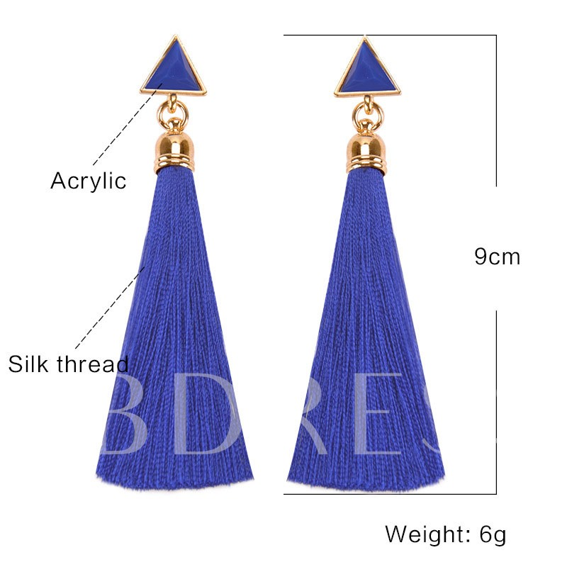 European Plain Alloy Birthday Earrings