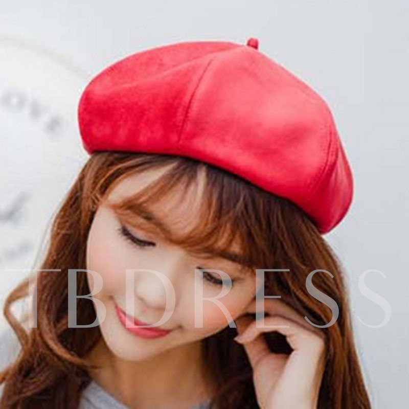 Suede Sweet Beret Winter Hats