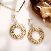 Woven Alloy Vintage Birthday Earrings