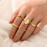 Vintage E-Plating Alloy Prom Rings