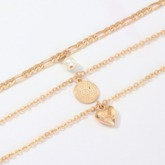 Gold Layered Heart-Shaped E-Plating Necklaces