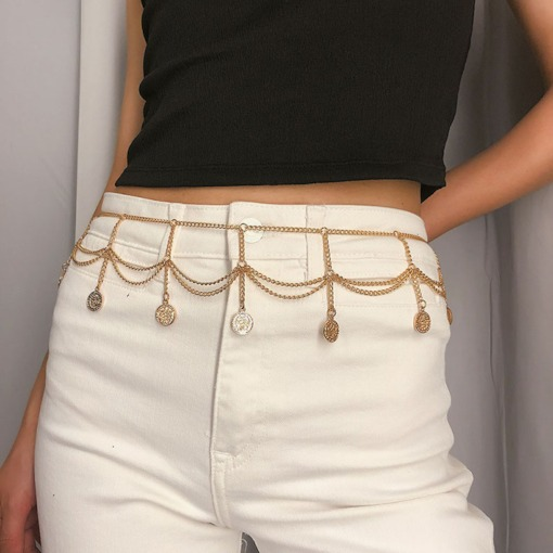 Metal Tassel Female Waist Chains