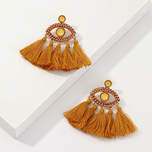 Tassel Alloy European Holiday Earrings