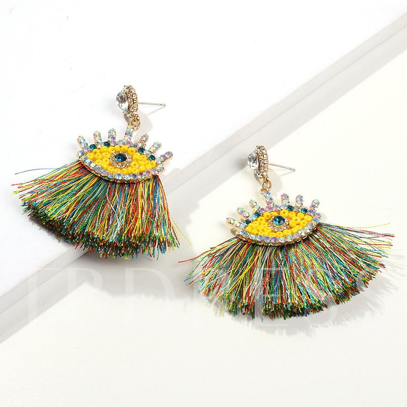 Alloy Color Block Ethnic Party Earrings