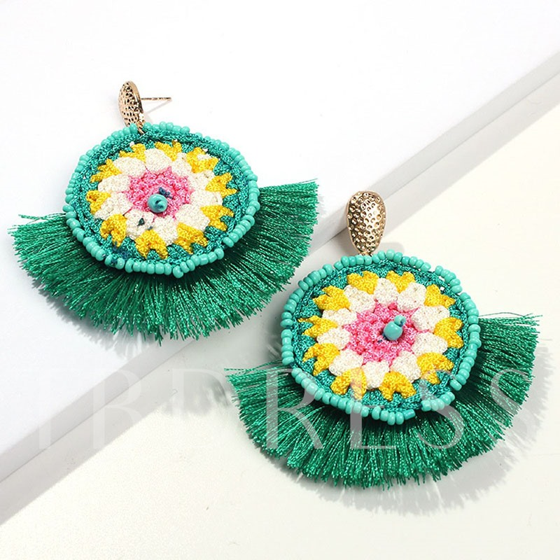 Bohemian Color Block Handmade Party Earrings
