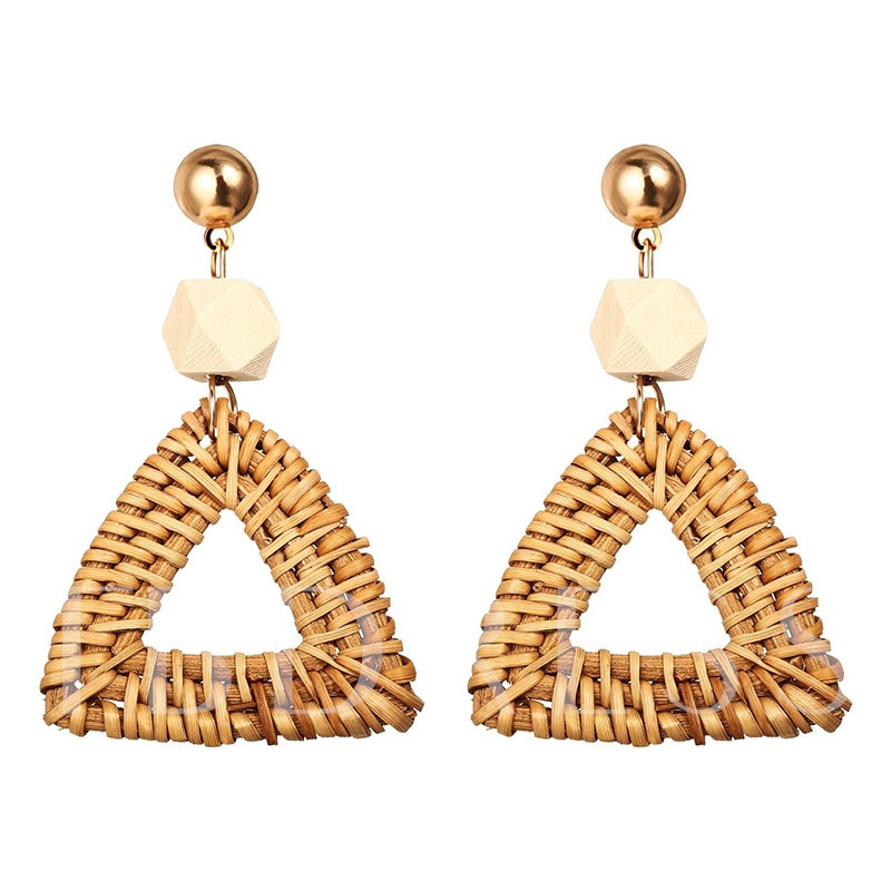 Plain Vintage Wood Holiday Earrings