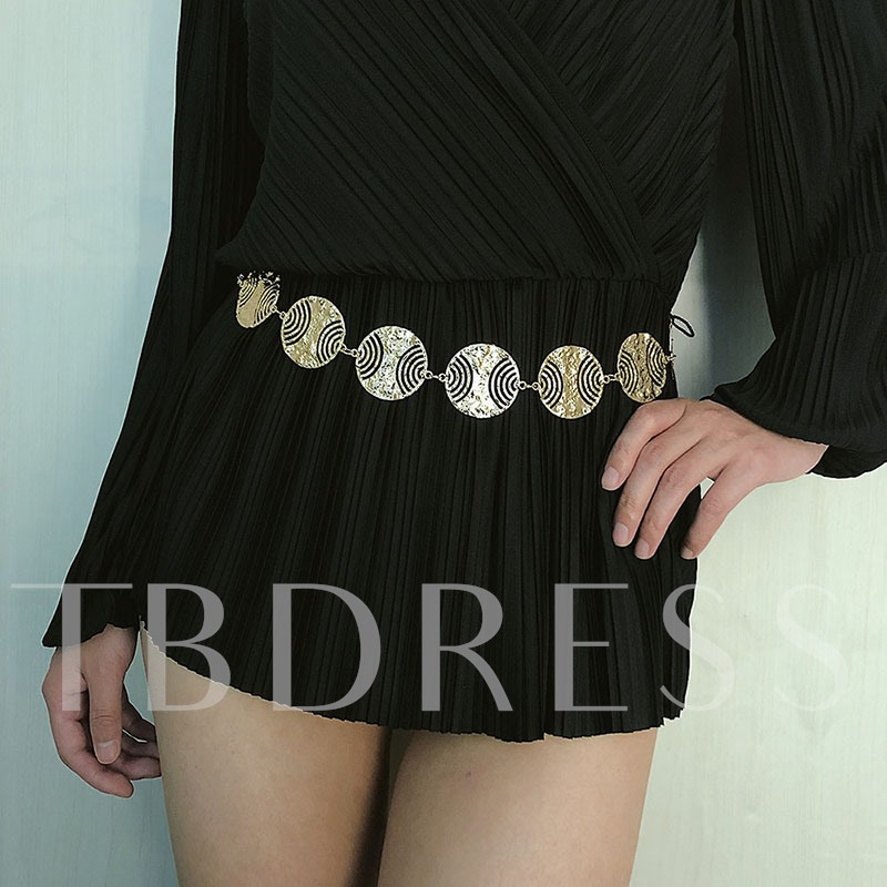 Female Vintage Metal Waist Chains