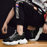 Sports Lace-Up Round Toe Chunky Men's Sneakers