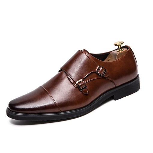 Low-Cut Upper Slip-On Round Toe Men's Business Shoes