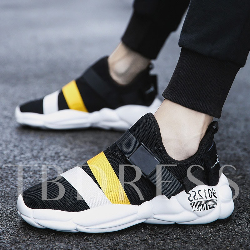 Buckle Sports Slip-On Round Toe Men's Sneakers