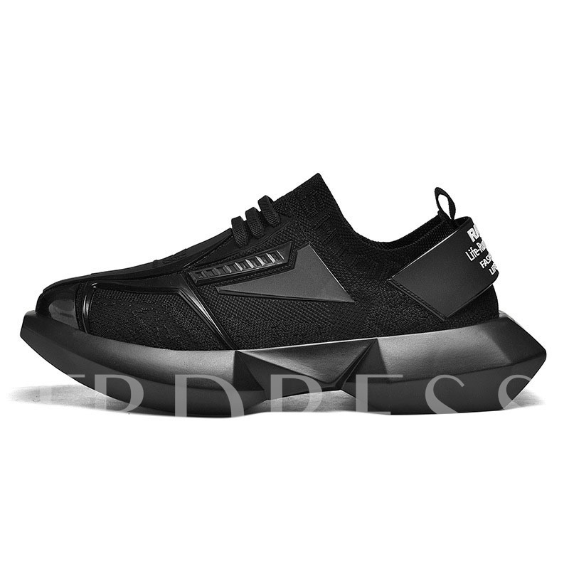 Low-Cut Upper Sports Lace-Up Mesh Men's Sneakers