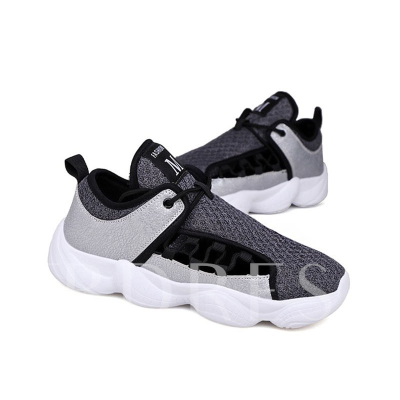 Low-Cut Upper Korean Lace-Up Round Toe Chic Men's Sneakers