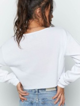 Women's Breathable Solid Long Sleeve Sexy Top