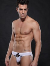 Plain Nylon Hollow Men's Brief